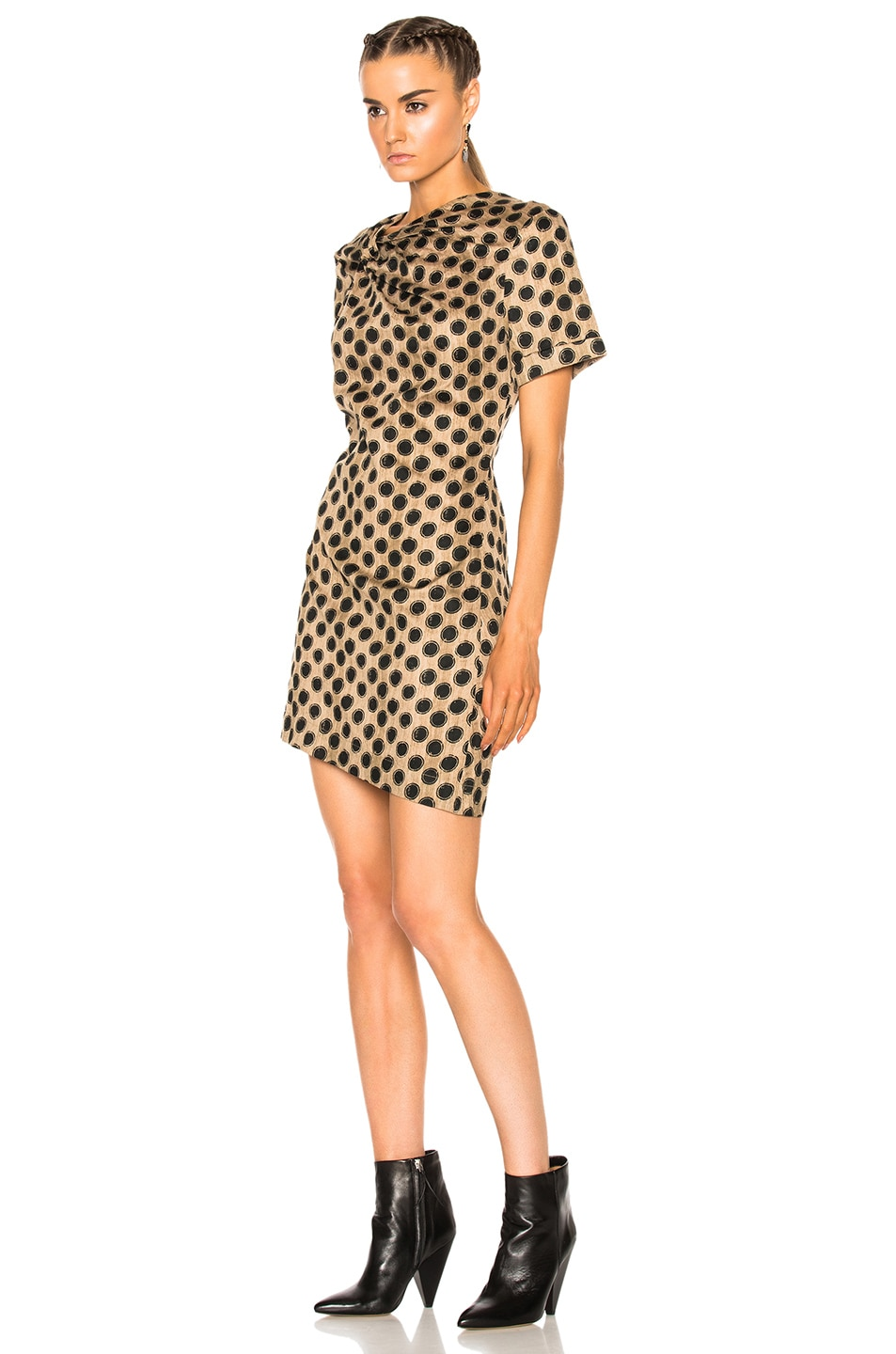 Image 2 of Isabel Marant Etoile Jade Printed Cotton Dress in Ecru