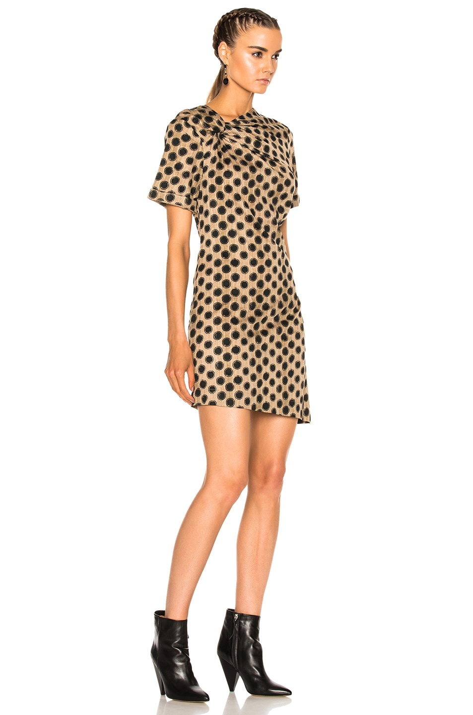 Image 3 of Isabel Marant Etoile Jade Printed Cotton Dress in Ecru