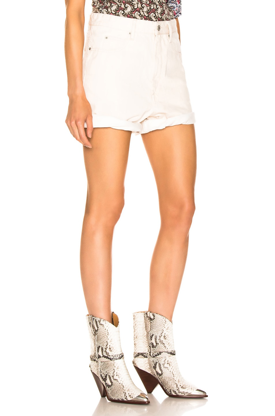 Image 2 of Isabel Marant Etoile Ciny Short in Ecru