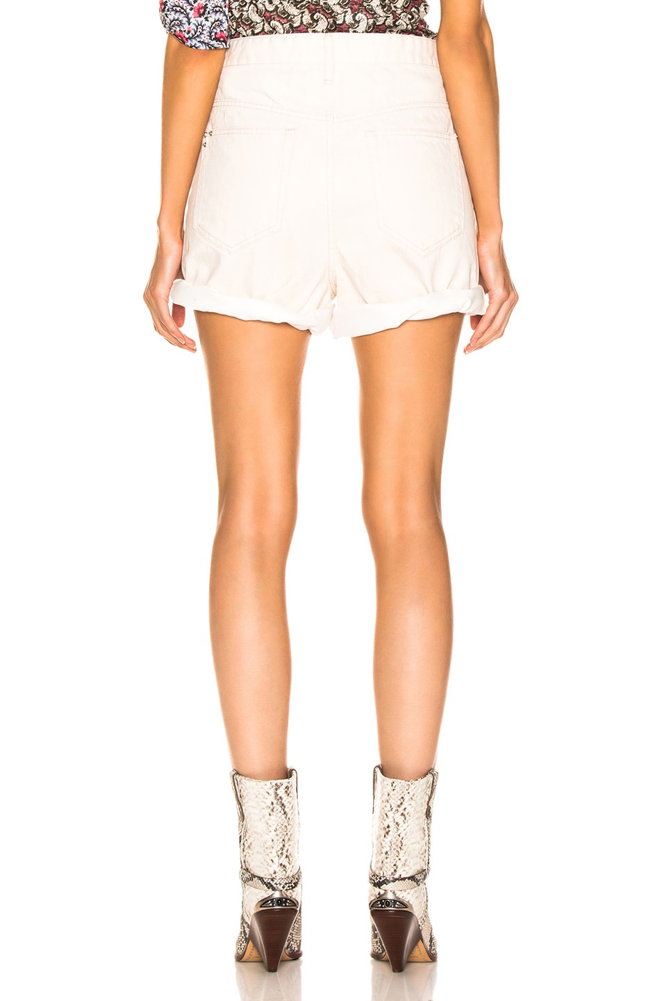 Image 3 of Isabel Marant Etoile Ciny Short in Ecru