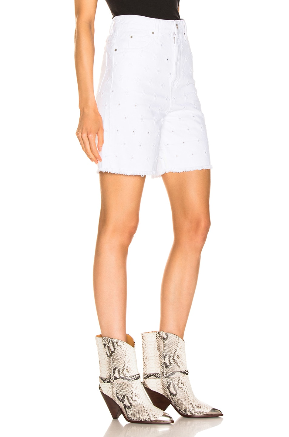 Image 2 of Isabel Marant Etoile Liny Short in White