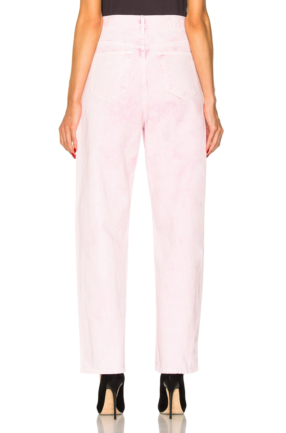 Image 3 of Isabel Marant Etoile Forby Colored Boyfriend Jeans in Light Pink