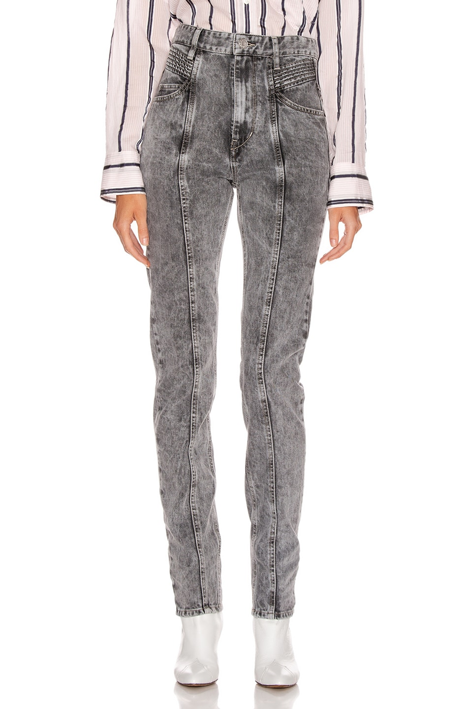 Image 1 of Isabel Marant Etoile Hominy Denim Pant in Grey