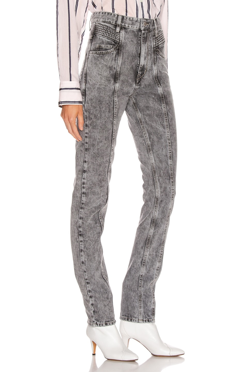 Image 2 of Isabel Marant Etoile Hominy Denim Pant in Grey