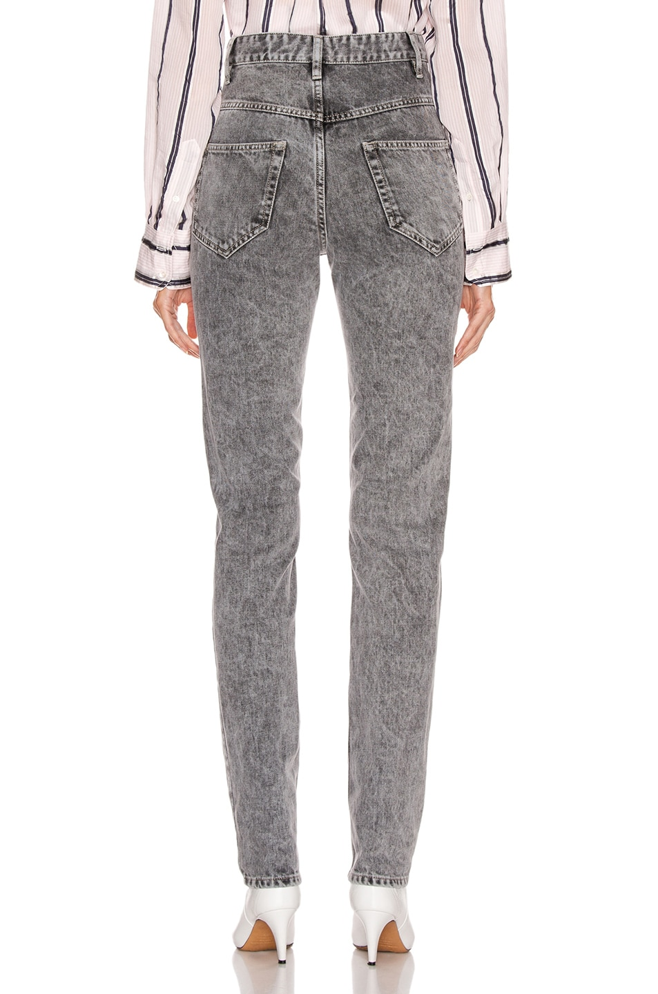 Image 3 of Isabel Marant Etoile Hominy Denim Pant in Grey