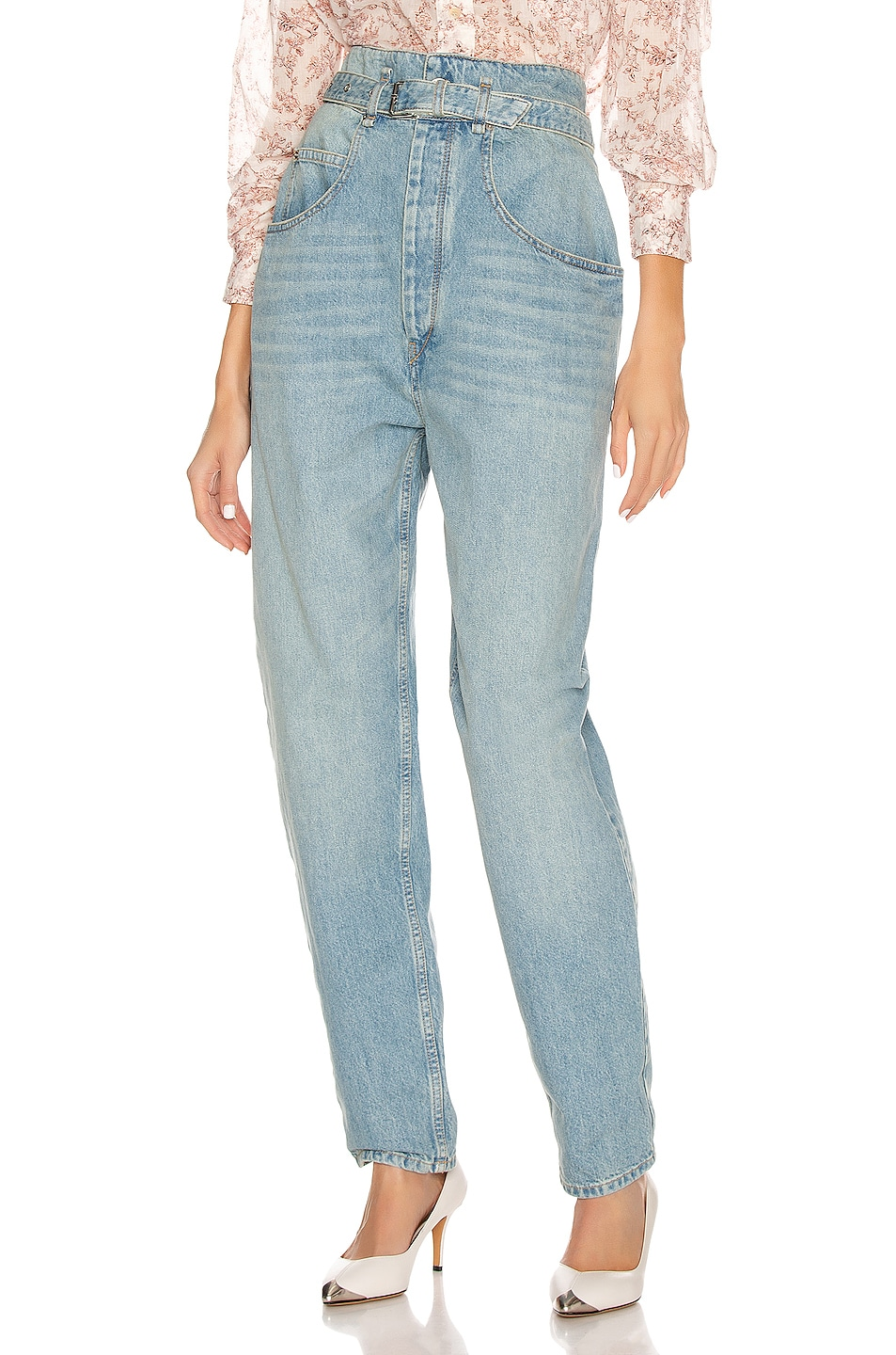 Image 1 of Isabel Marant Etoile Gloria Denim Pant in Light Blue