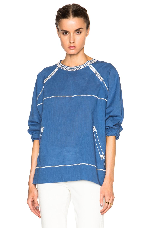 Image 1 of Isabel Marant Etoile Ryker Ellie Ite Top in Blue