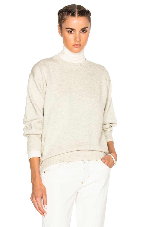 Image 1 of Isabel Marant Etoile Benton Double Regular Sweater in Light Grey