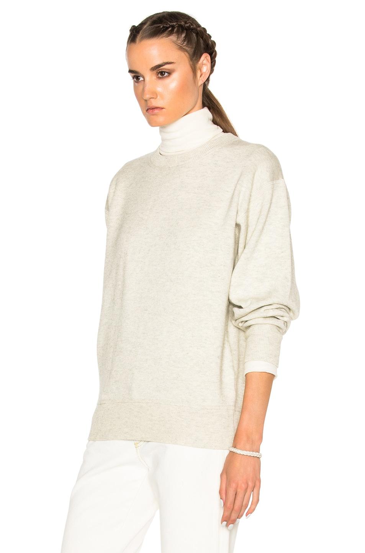 Image 2 of Isabel Marant Etoile Benton Double Regular Sweater in Light Grey