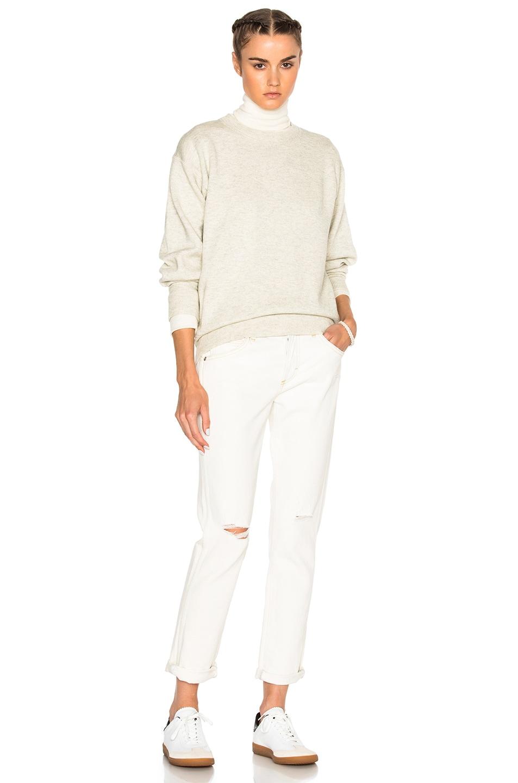 Image 6 of Isabel Marant Etoile Benton Double Regular Sweater in Light Grey