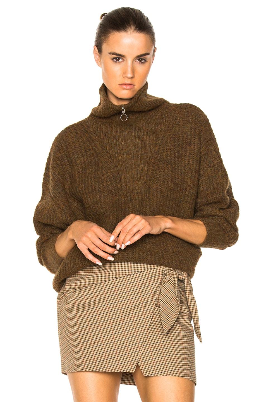 Image 1 of Isabel Marant Etoile Declan Grunge Knit Turtleneck Sweater in Bronze