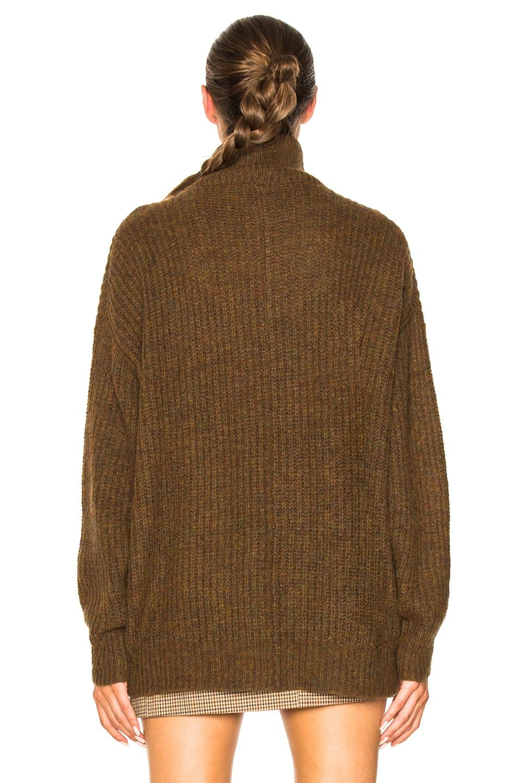 Image 3 of Isabel Marant Etoile Declan Grunge Knit Turtleneck Sweater in Bronze