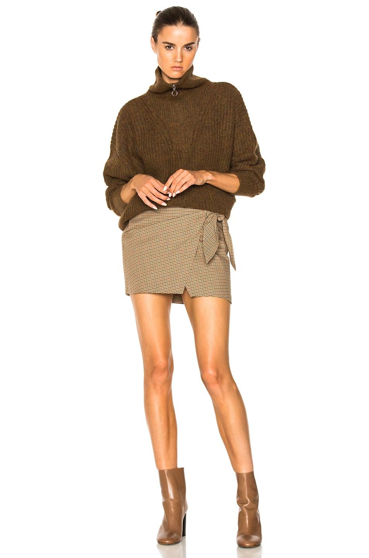 Image 4 of Isabel Marant Etoile Declan Grunge Knit Turtleneck Sweater in Bronze