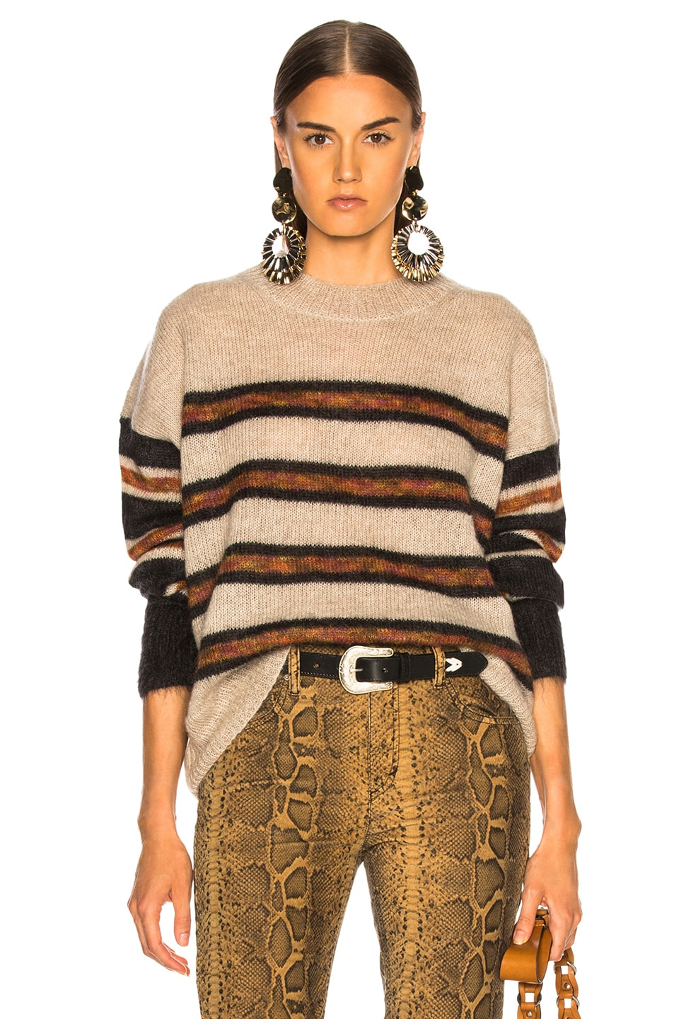 3b9f3bae08 Image 1 of Isabel Marant Etoile Russell Sweater in Beige & Faded Black