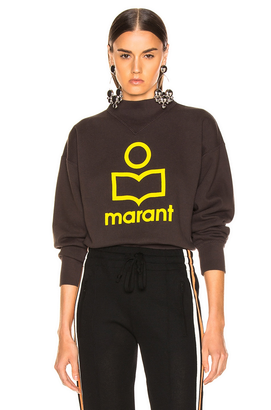 Image 1 of Isabel Marant Etoile Moby Sweater in Faded Black