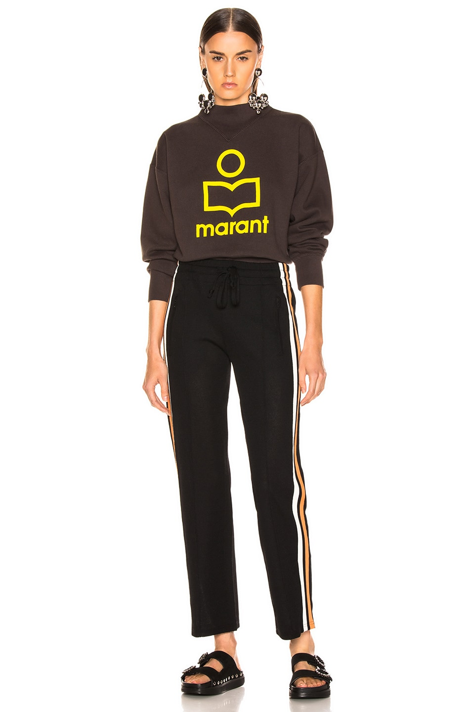 Image 4 of Isabel Marant Etoile Moby Sweater in Faded Black