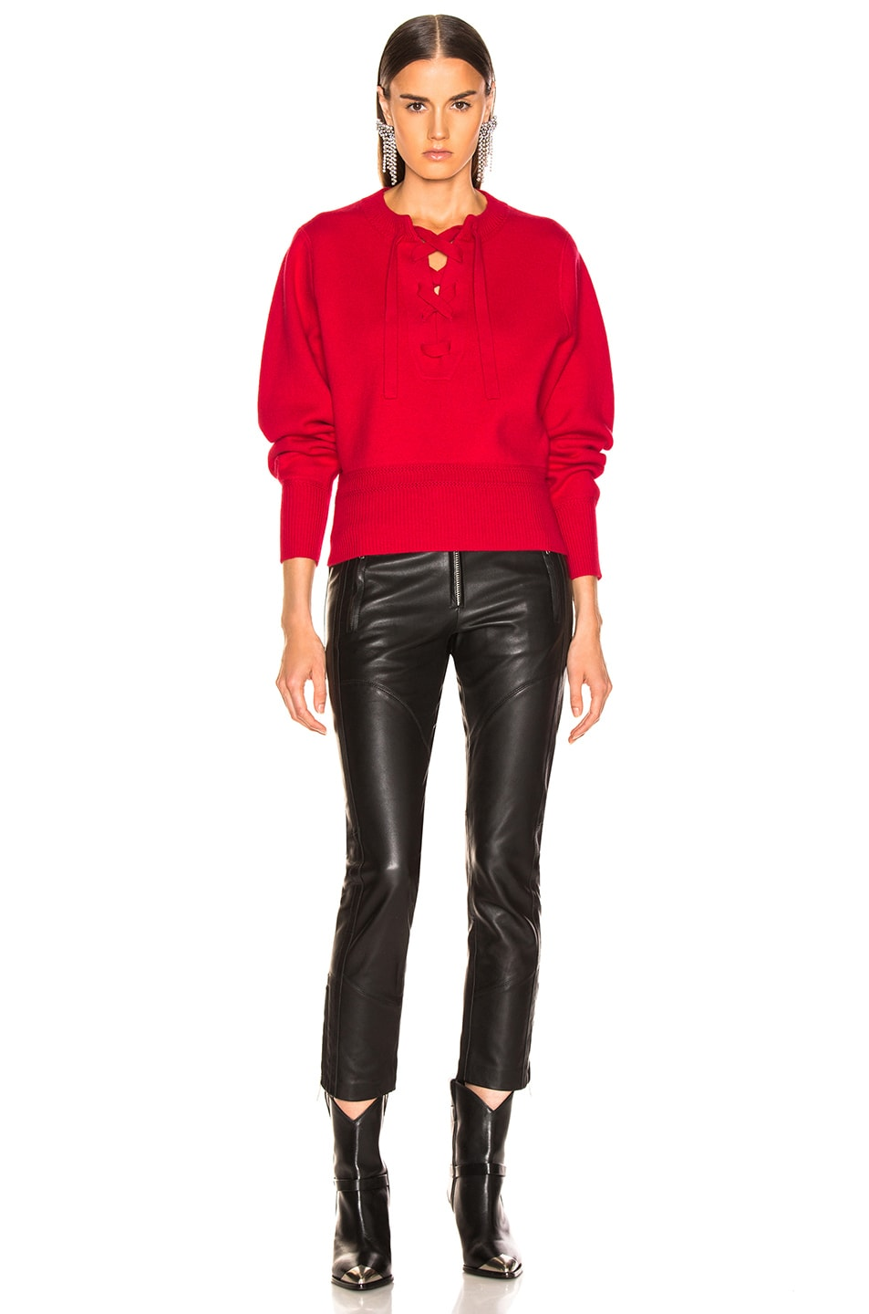 Image 4 of Isabel Marant Etoile Kaylyn Sweater in Red