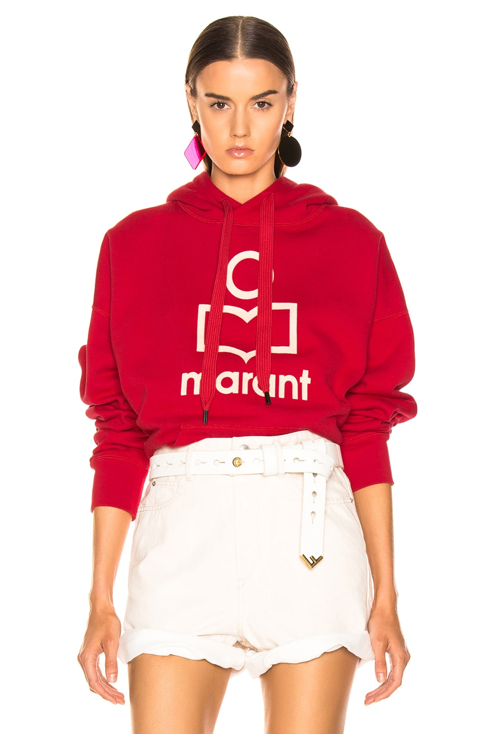 Image 1 of Isabel Marant Etoile Mansel Hoodie in Red