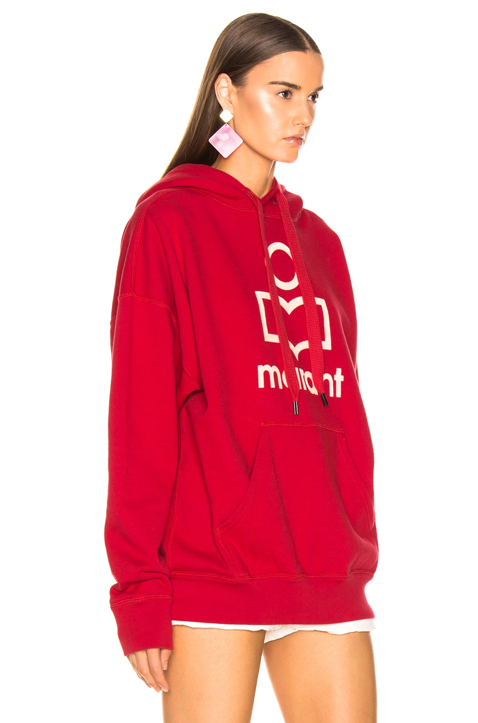 Image 2 of Isabel Marant Etoile Mansel Hoodie in Red