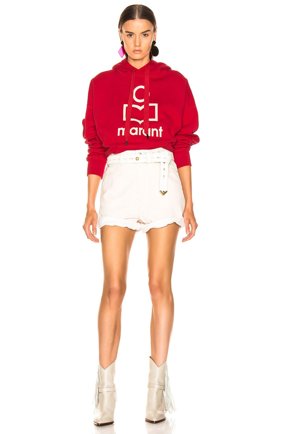 Image 4 of Isabel Marant Etoile Mansel Hoodie in Red