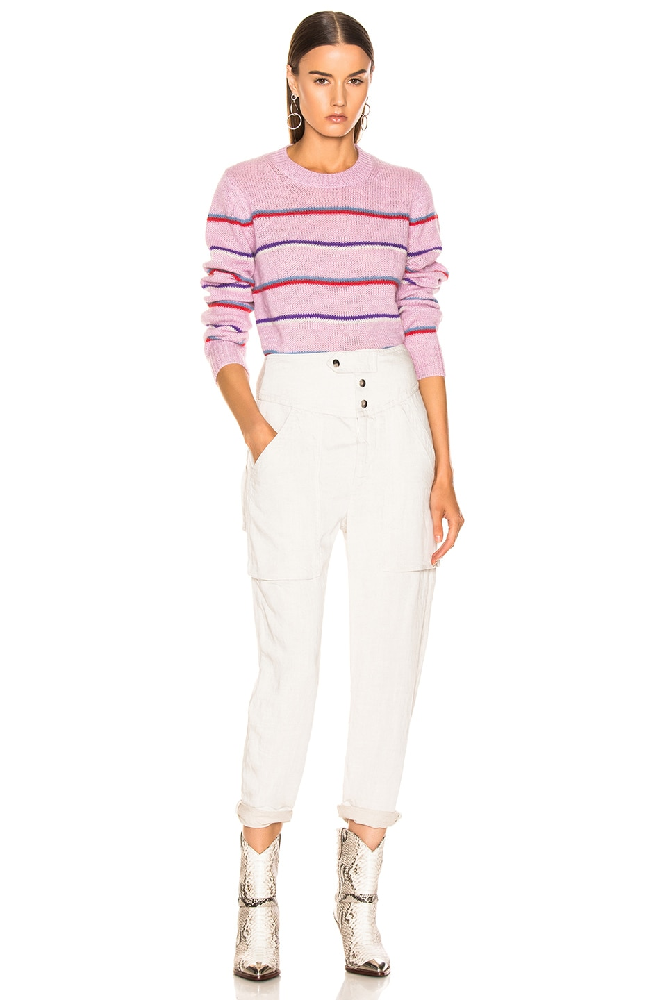 Image 4 of Isabel Marant Etoile Gian Sweater in Lilac