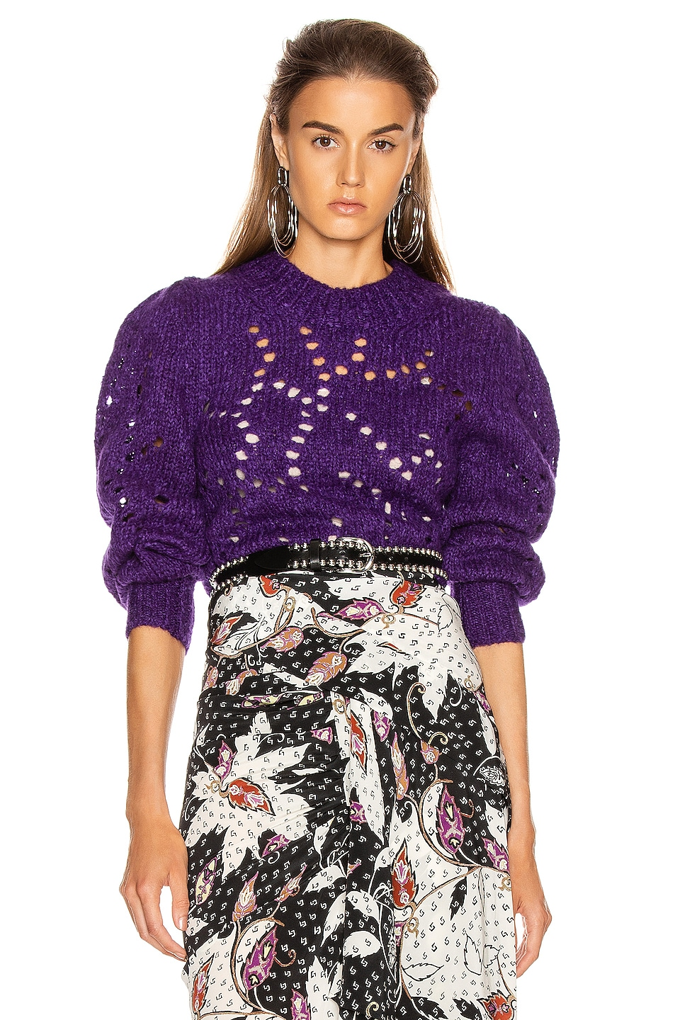 Image 1 of Isabel Marant Etoile Sineady Sweater in Purple