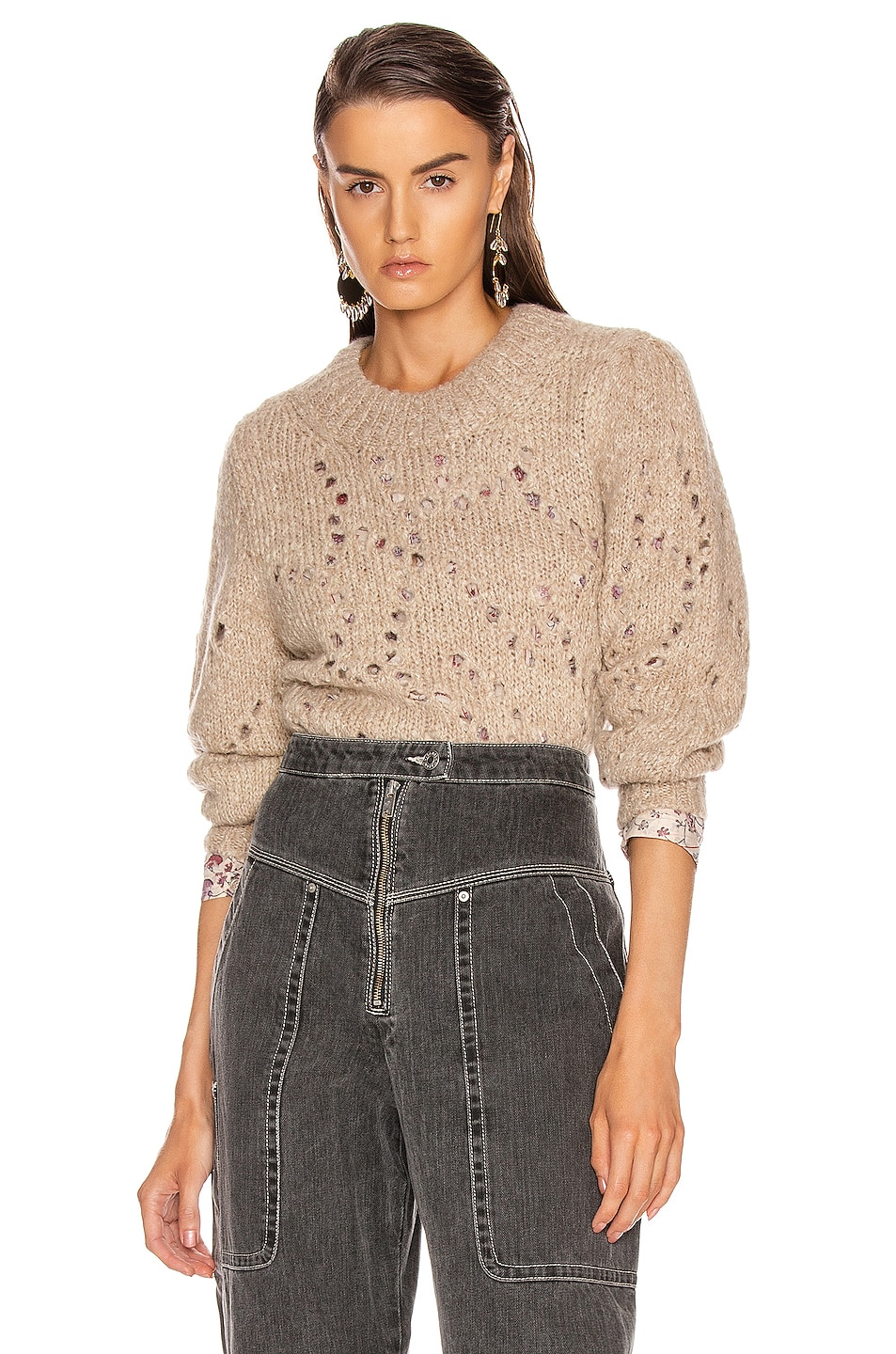 Image 1 of Isabel Marant Etoile Sineady Sweater in Beige
