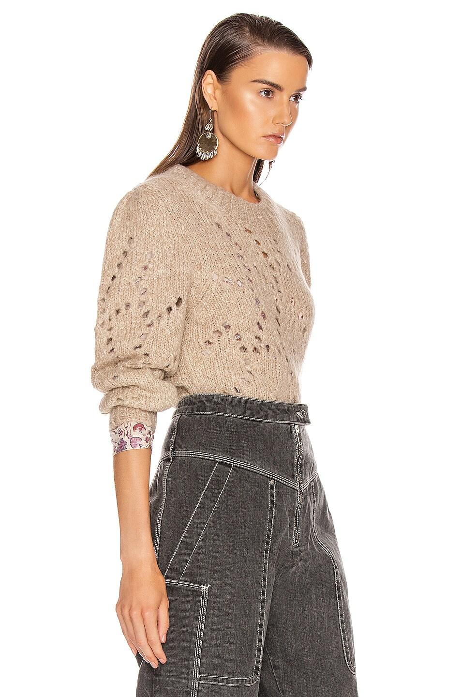 Image 2 of Isabel Marant Etoile Sineady Sweater in Beige