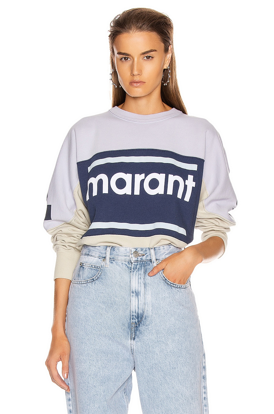 Image 1 of Isabel Marant Etoile Gallian Sweater in Light Blue