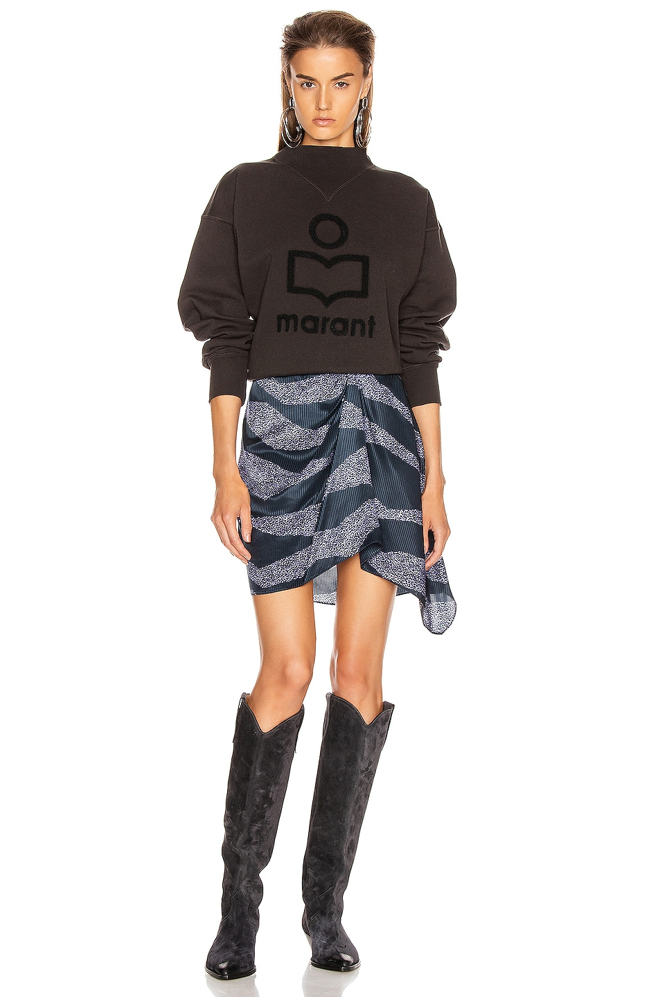 Image 4 of Isabel Marant Etoile Moby Sweater in Faded Black & Black