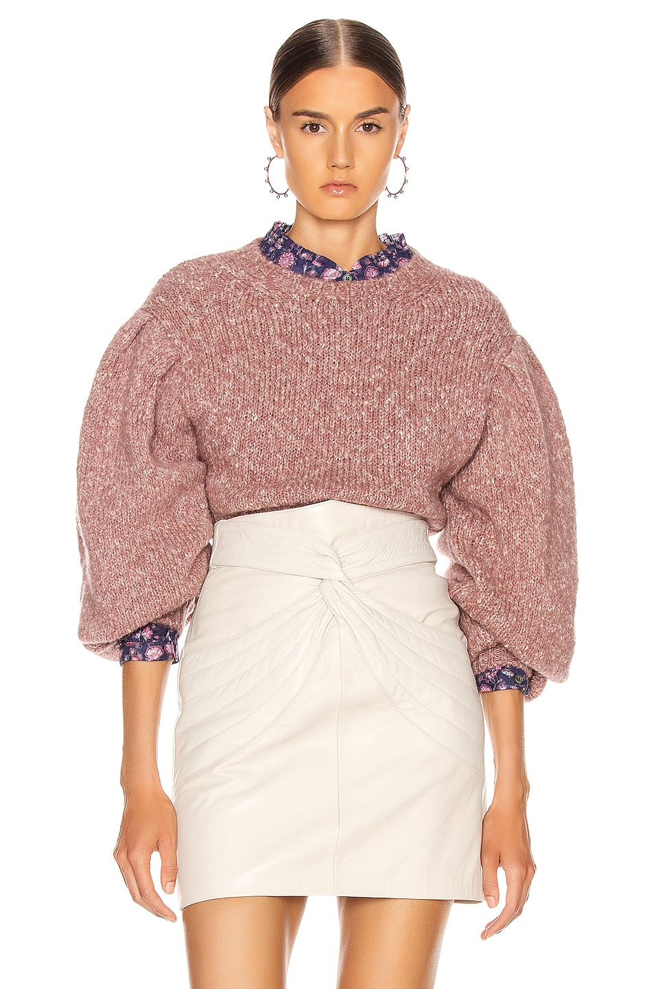 Image 1 of Isabel Marant Etoile Shaelyn Sweater in Rosewood
