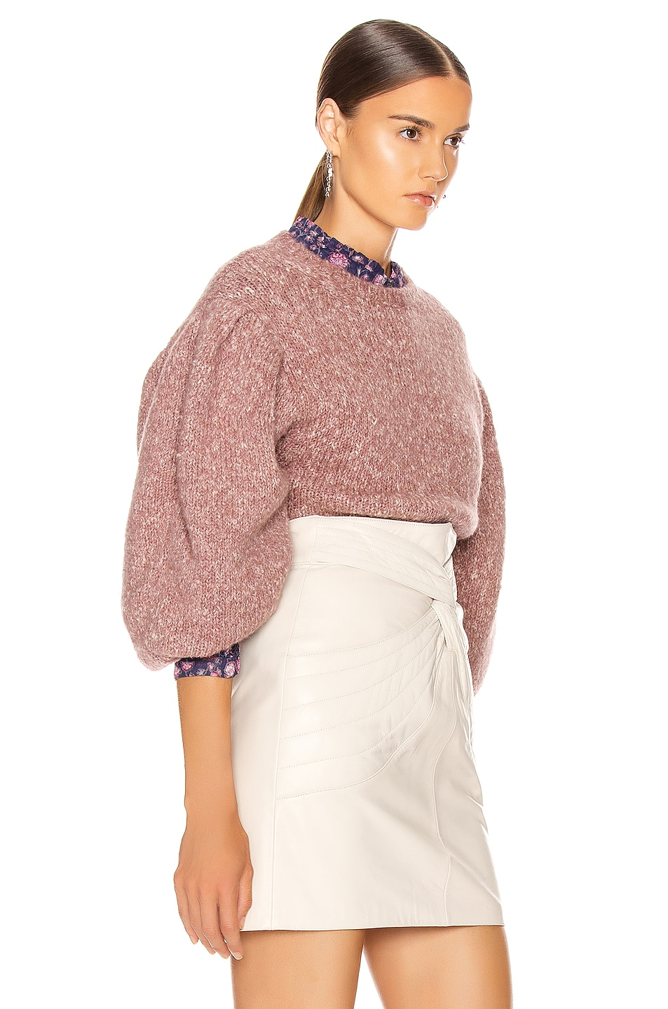 Image 2 of Isabel Marant Etoile Shaelyn Sweater in Rosewood