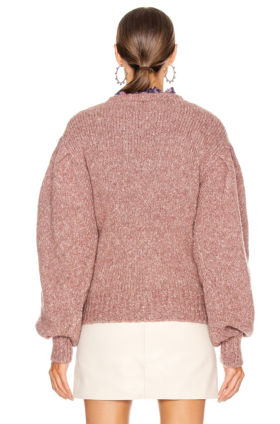 Image 3 of Isabel Marant Etoile Shaelyn Sweater in Rosewood