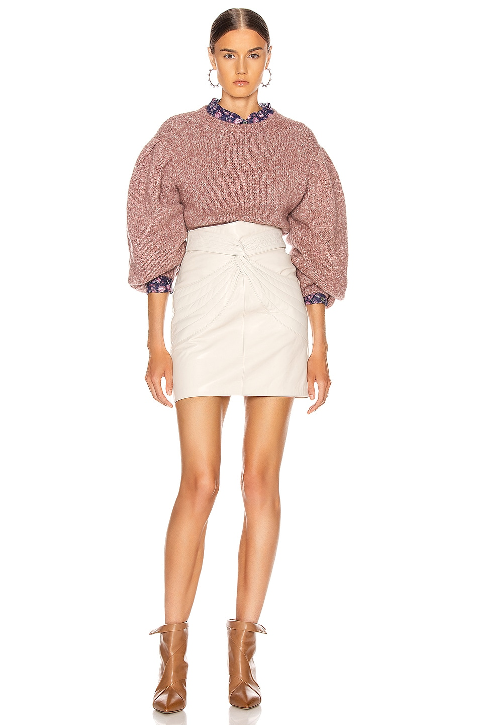 Image 4 of Isabel Marant Etoile Shaelyn Sweater in Rosewood