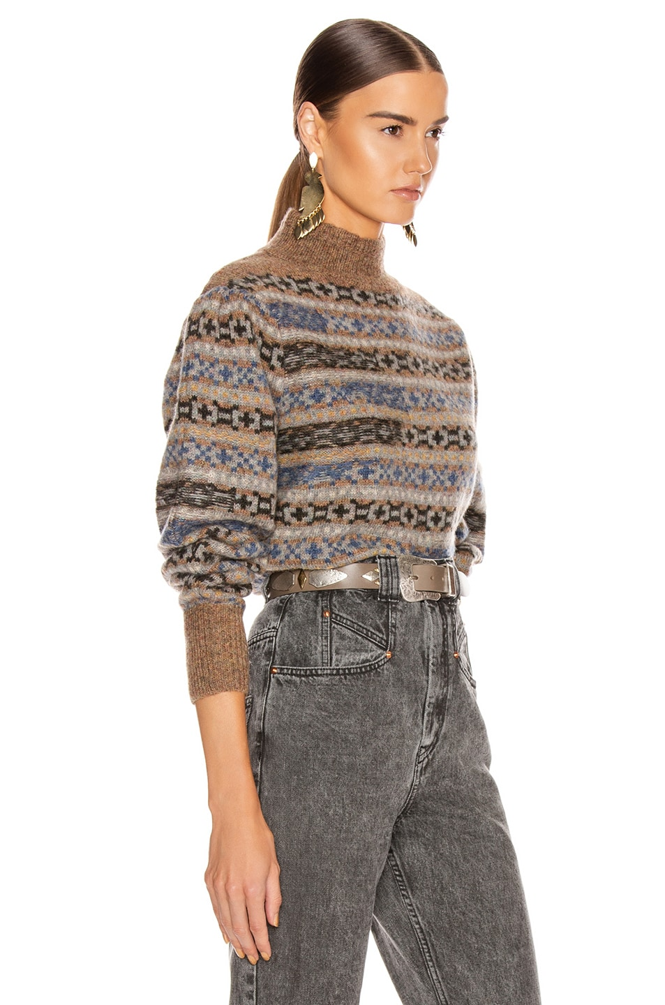 Image 2 of Isabel Marant Etoile Ned Sweater in Greyish Blue