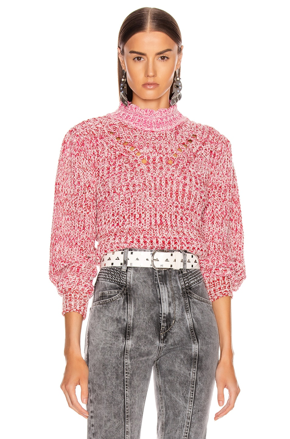 Image 1 of Isabel Marant Etoile Loitya Sweater in Pink