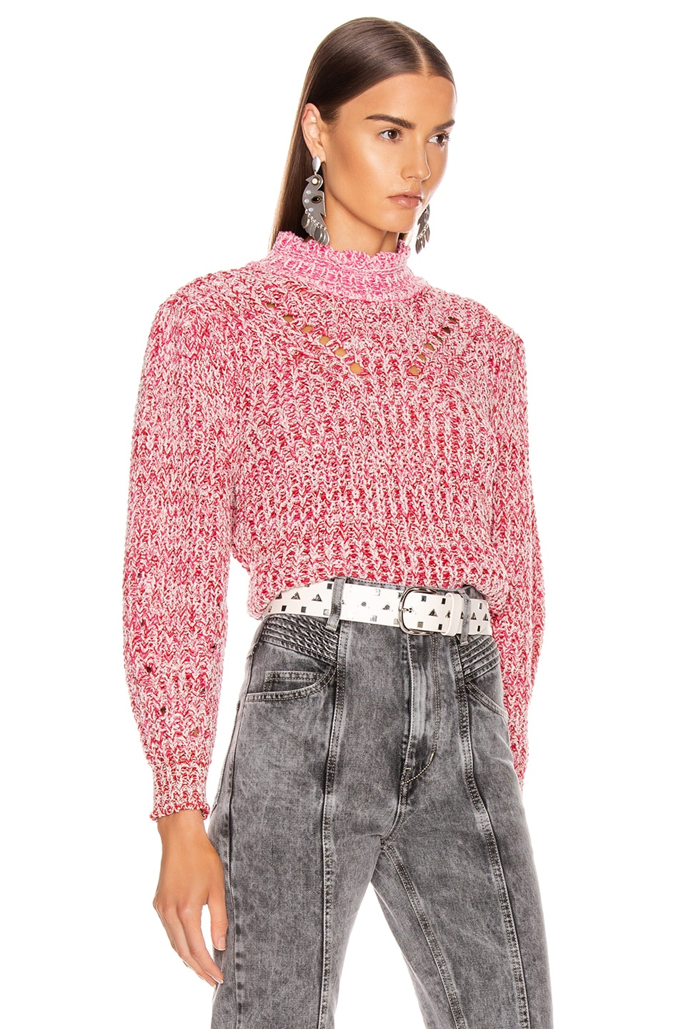 Image 2 of Isabel Marant Etoile Loitya Sweater in Pink