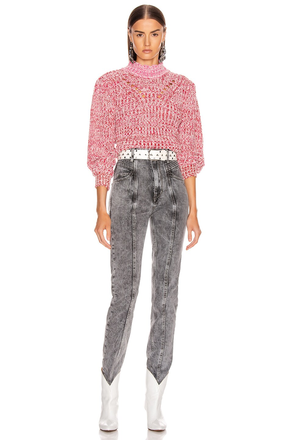Image 4 of Isabel Marant Etoile Loitya Sweater in Pink