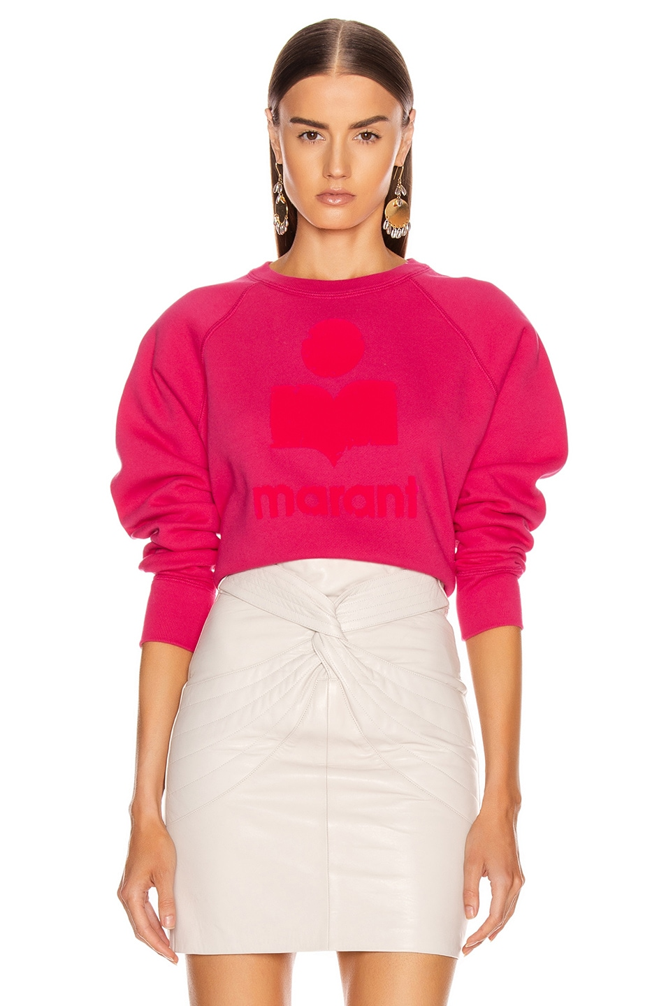 Image 1 of Isabel Marant Etoile Milly Sweatshirt in Neon Pink