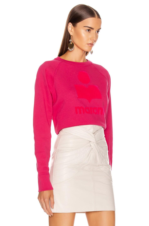 Image 2 of Isabel Marant Etoile Milly Sweatshirt in Neon Pink