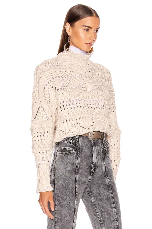 Image 2 of Isabel Marant Etoile Naka Sweater in Ecru