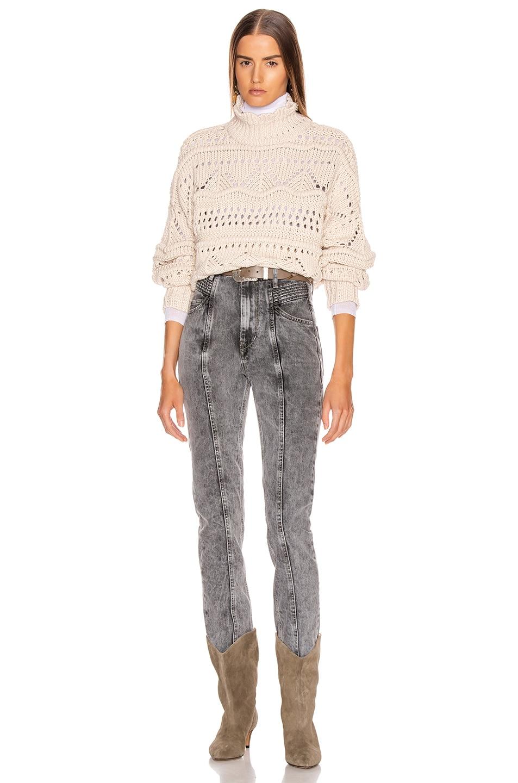 Image 4 of Isabel Marant Etoile Naka Sweater in Ecru
