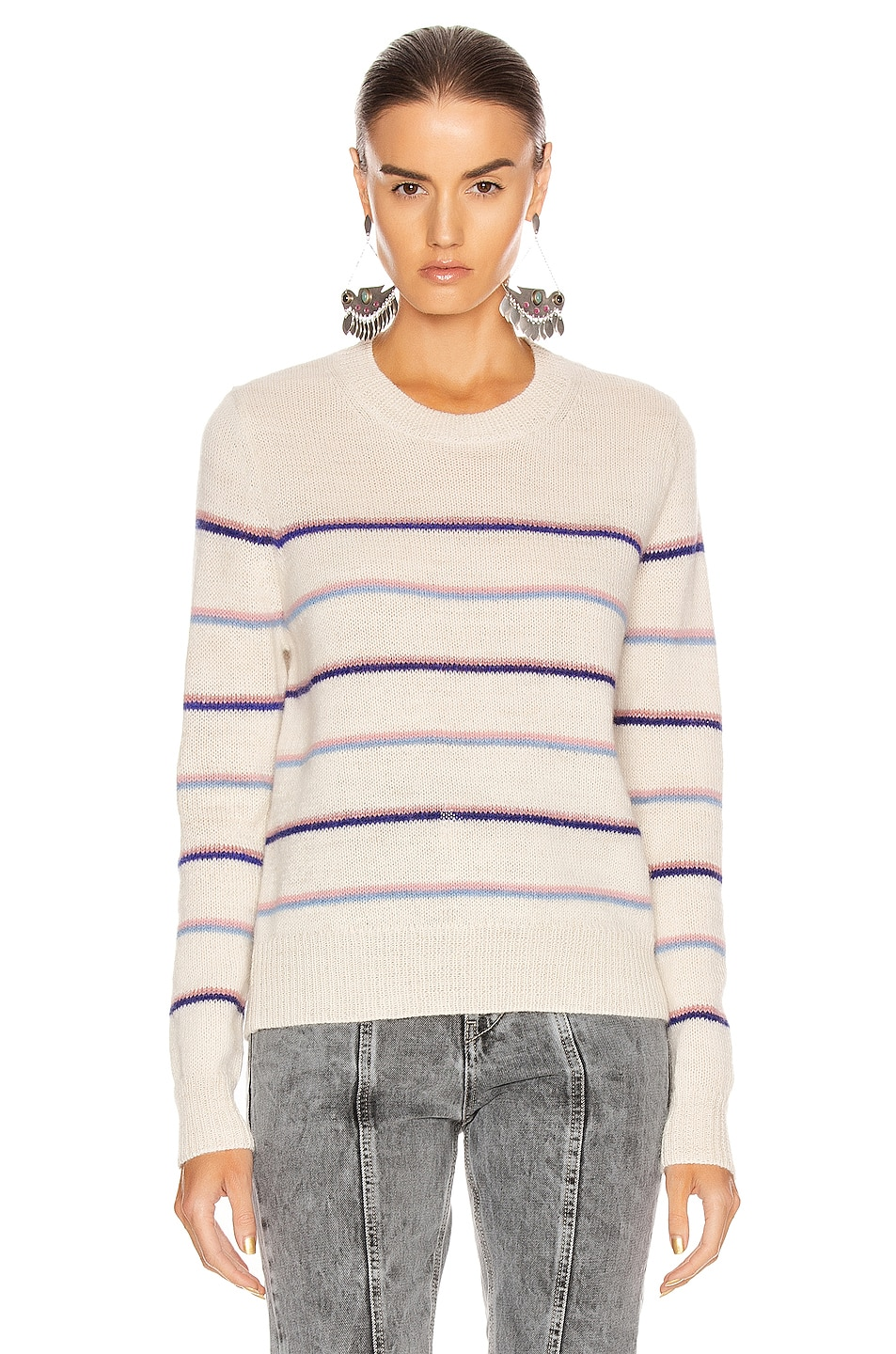 Image 2 of Isabel Marant Etoile Gianili Sweater in Pink & Ecru