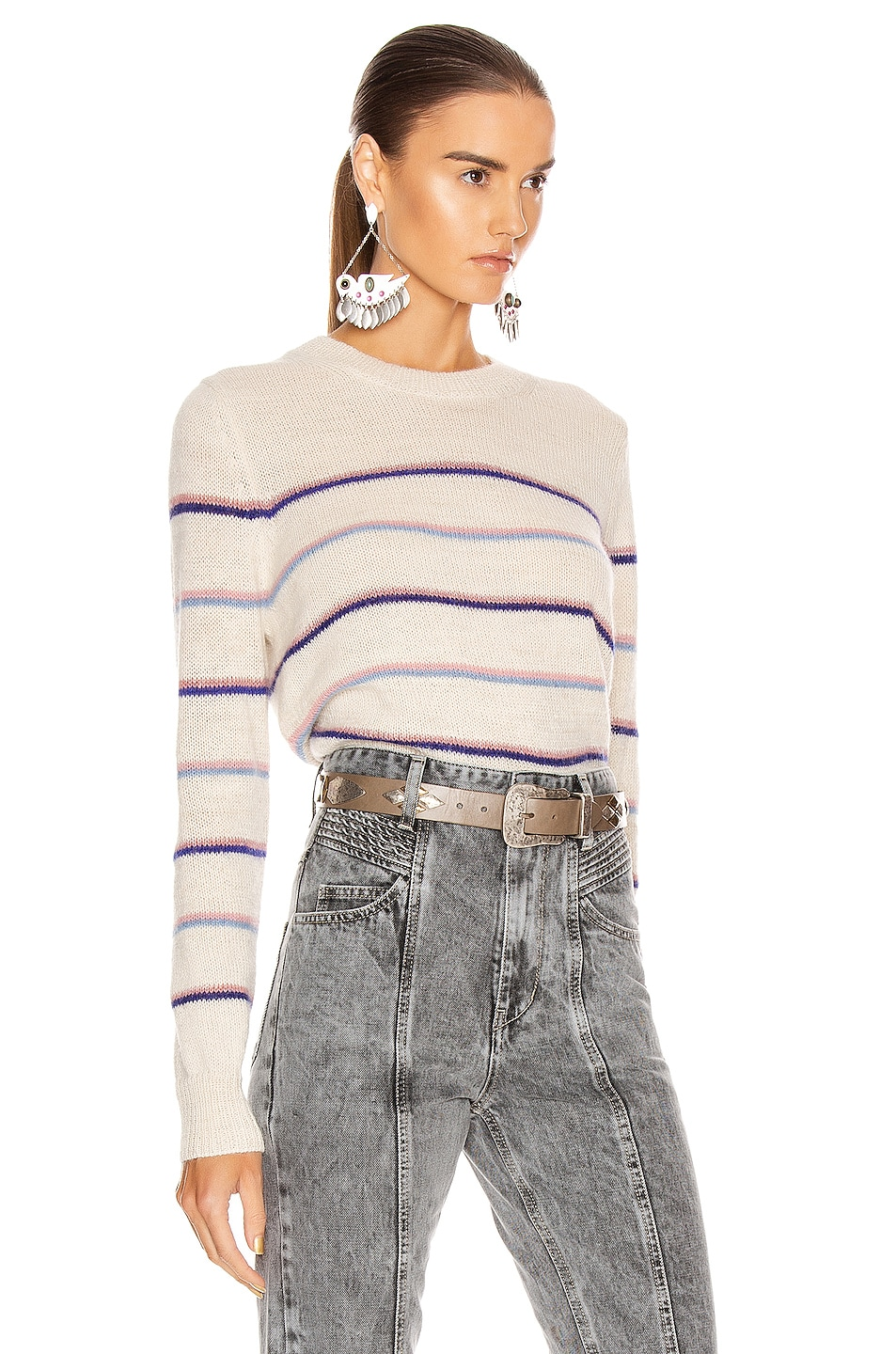 Image 3 of Isabel Marant Etoile Gianili Sweater in Pink & Ecru