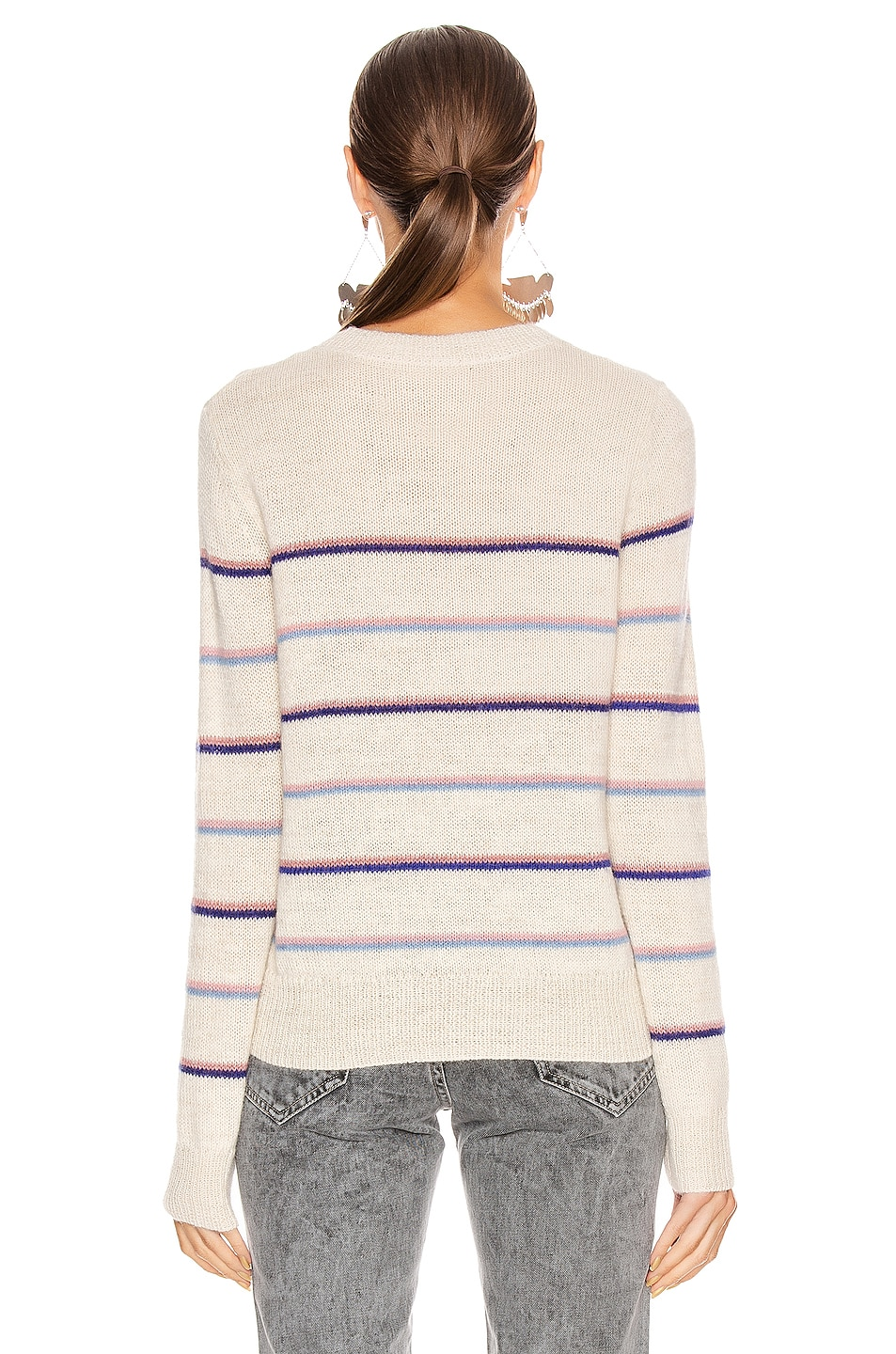 Image 4 of Isabel Marant Etoile Gianili Sweater in Pink & Ecru