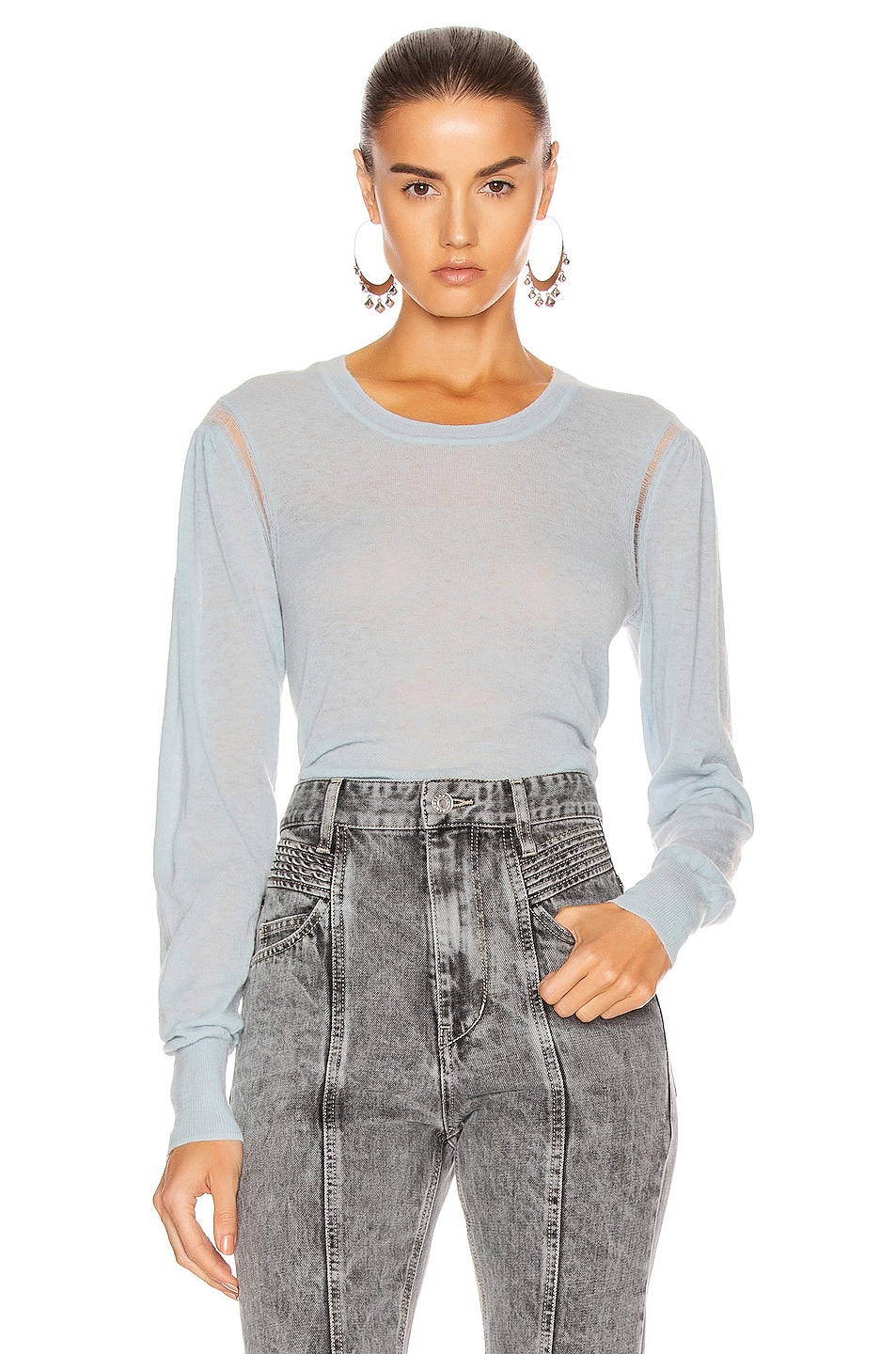 Image 1 of Isabel Marant Etoile Fania Sweater in Light Blue