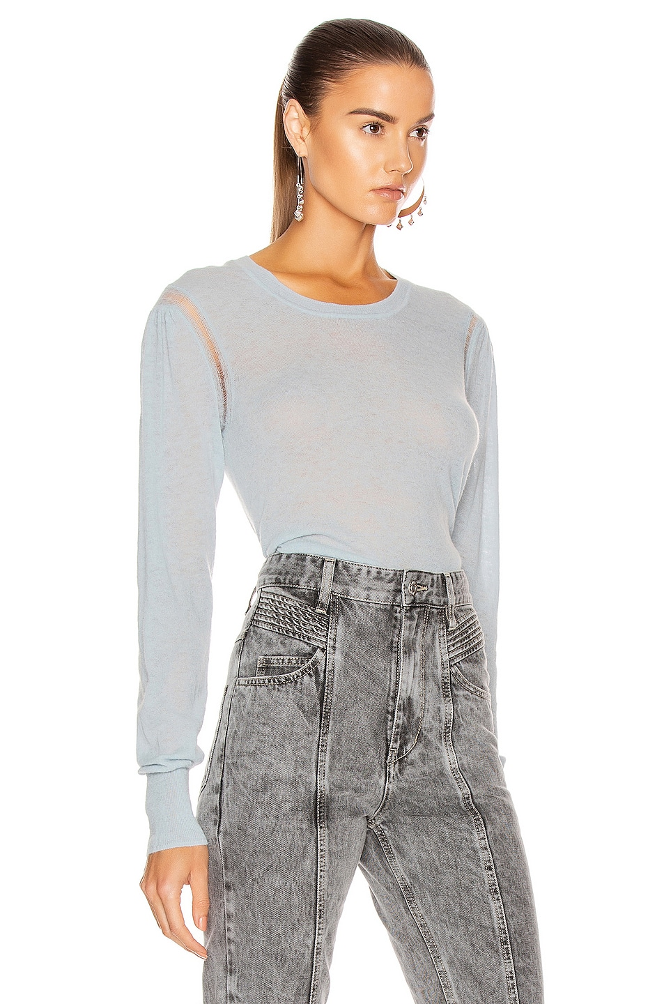 Image 2 of Isabel Marant Etoile Fania Sweater in Light Blue
