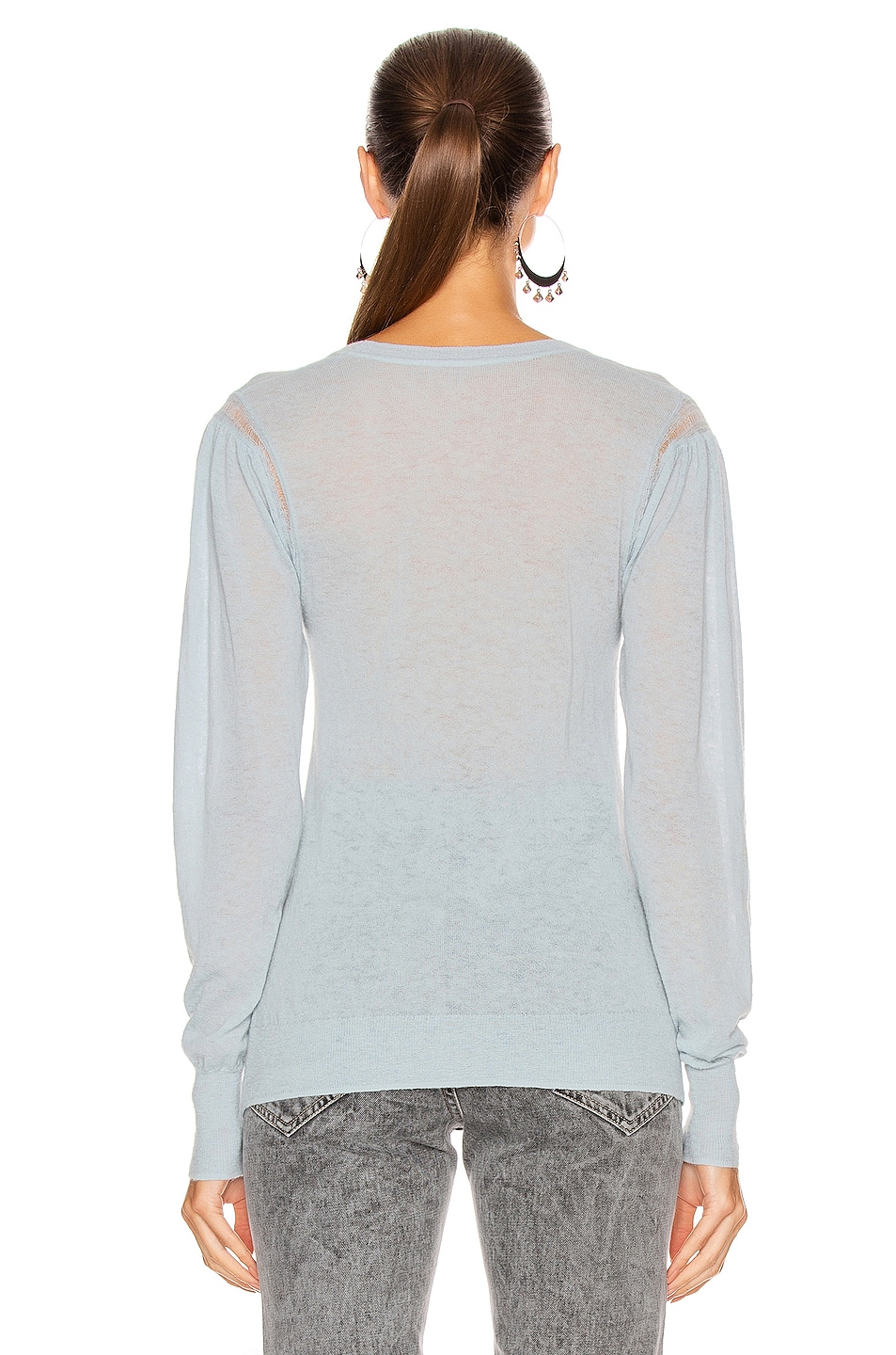 Image 3 of Isabel Marant Etoile Fania Sweater in Light Blue