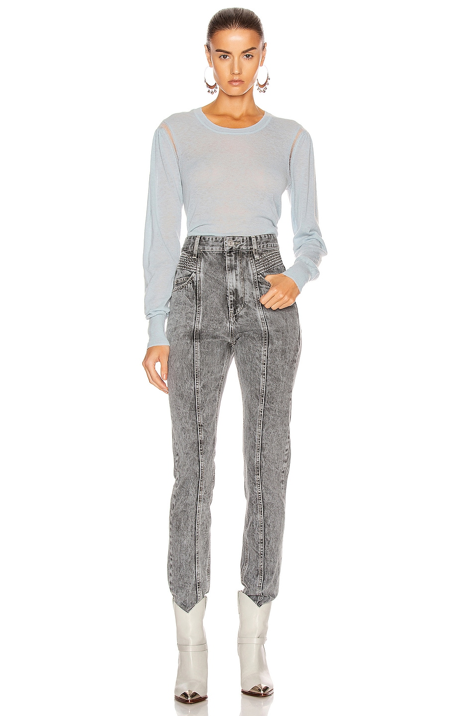 Image 4 of Isabel Marant Etoile Fania Sweater in Light Blue