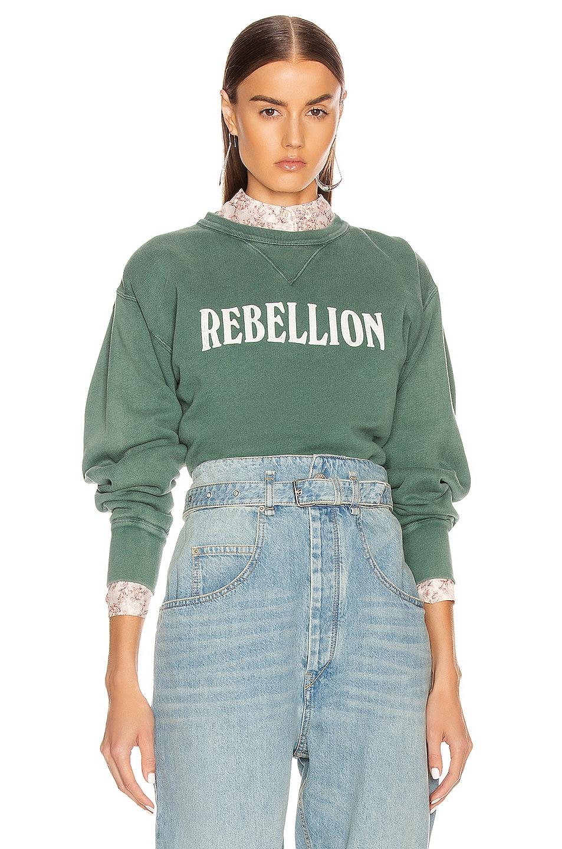 Image 1 of Isabel Marant Etoile Rise Sweatshirt in Greyish Green